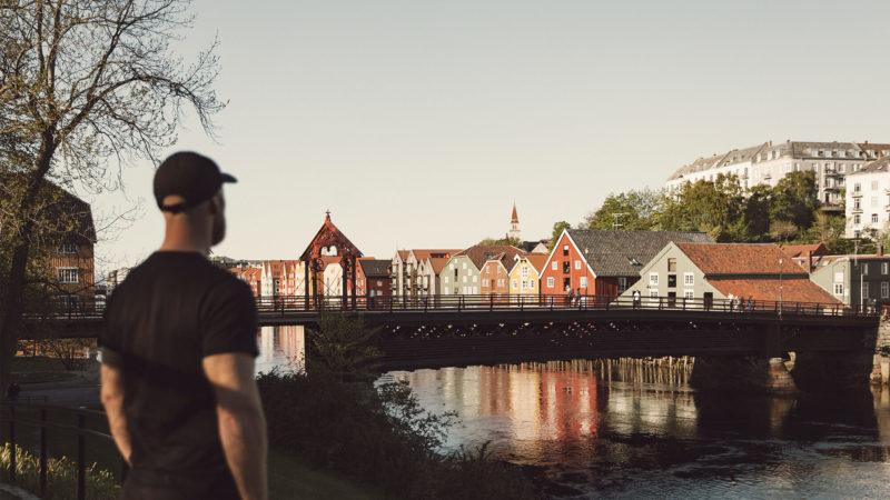 Hjerteplanen Hjertepromenaden gamle bybro